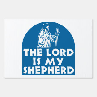 The Lord is my Shepherd Blue Sign