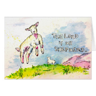 """""""The Lord Is My Shepherd"""" Card"""