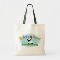 The Lord is my Shepherd Christian cloth tote bag