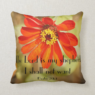 The Lord is my shepherd I shall not want Throw Pillow