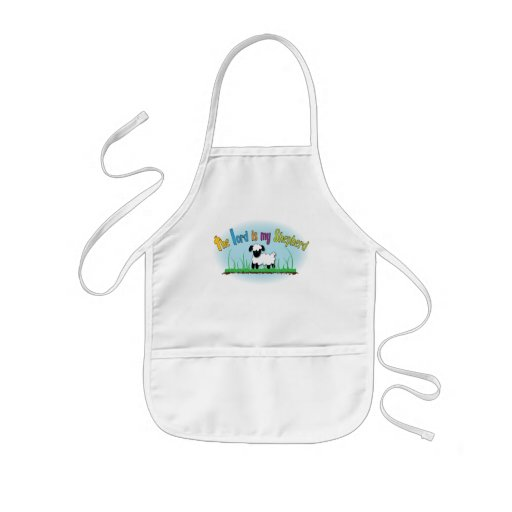 The Lord is my Shepherd kids' Christian apron