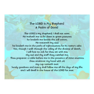 The Lord is my shepherd Postcard