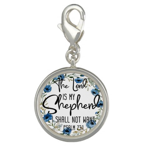 The Lord Is My Shepherd | Psalm 23:1 Bible Verse Charm