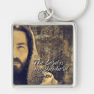 The Lord is my shepherd Psalm 23:1 Keychains