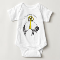 The LORD is my shepherd Psalm 23 Baby Bodysuit