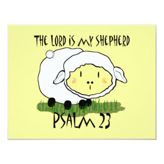 The LORD is my shepherd Psalm 23 Card