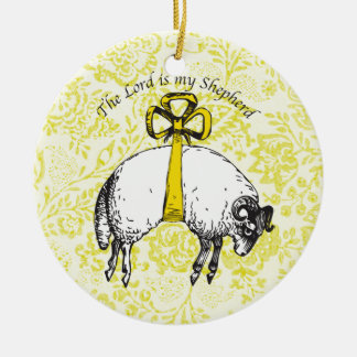 The LORD is my shepherd Psalm 23 Ceramic Ornament