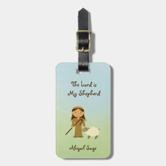 The Lord is My Shepherd Psalm 23, Custom Bag Tag