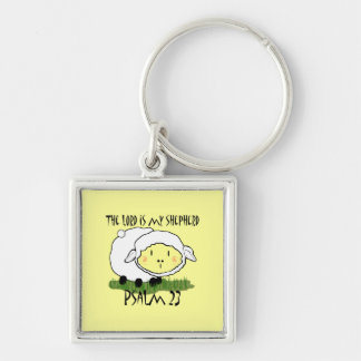 The LORD is my shepherd Psalm 23 Infant t-shirt- U Silver-Colored Square Keychain