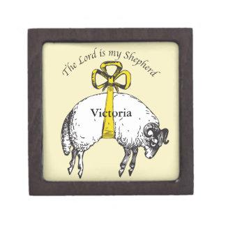 The LORD is my shepherd Psalm 23 Jewelry Box
