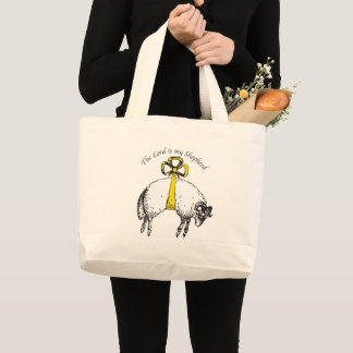 The LORD is my shepherd Psalm 23 Large Tote Bag
