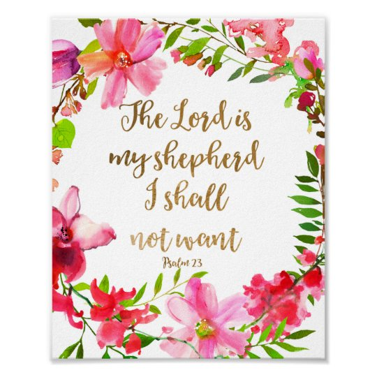 photo about Psalm 23 Printable named The Lord Is My Shepherd Psalm 23 Poster
