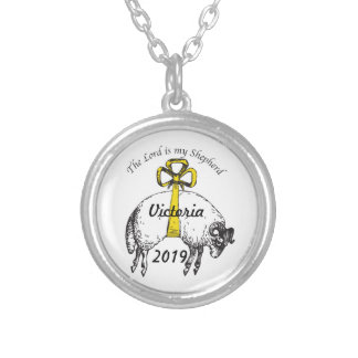 The LORD is my shepherd Psalm 23 Silver Plated Necklace