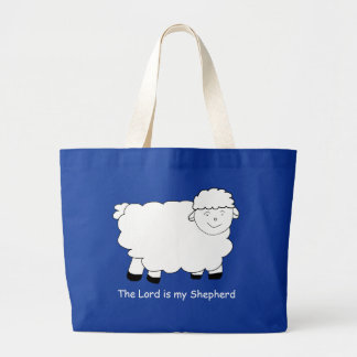 The Lord is My Shepherd Sheep Jumbo Tote Bag
