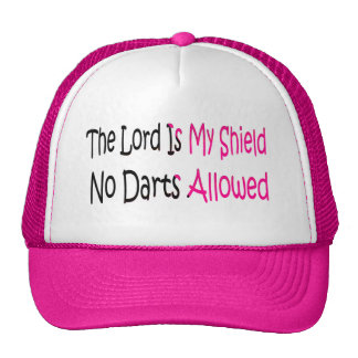 The Lord Is My Shield in pink Trucker Hat