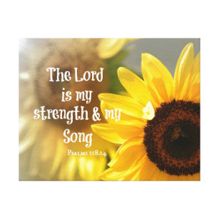 7c41a044d The Lord is my Strength and Song Bible Verse Canvas Print