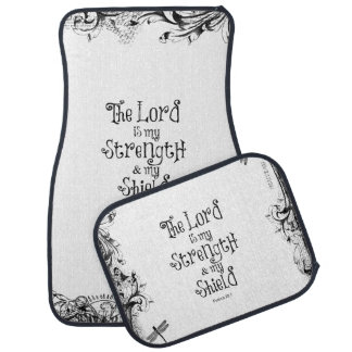 The Lord is my Strength Bible Verse Car Floor Mat