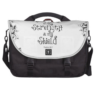 The Lord is my Strength Bible Verse Laptop Commuter Bag