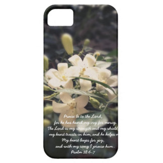 The Lord is my Strength & Shield - Jasmine iPhone iPhone SE/5/5s Case