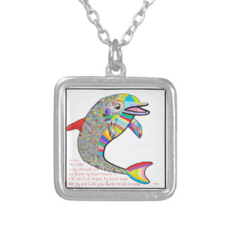 The Lord is my Strength Silver Plated Necklace