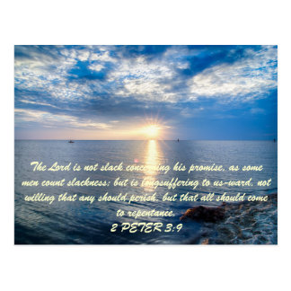 The Lord is not slack concerning his promise, as s Postcard