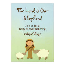 The Lord is Our Shepherd Sheep Baby Shower Invite