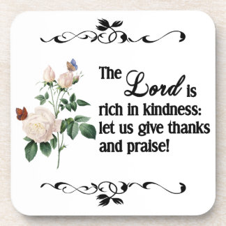The Lord Is Rich In Kindness Cork Coaster II