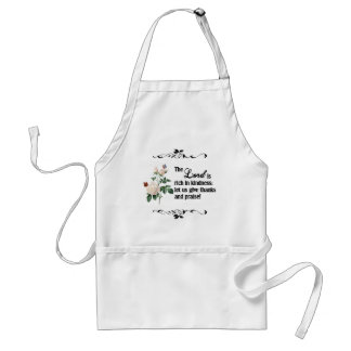 The Lord Is Rich In Kindness Custom Apron