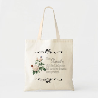 The Lord Is Rich In Kindness Custom Bag