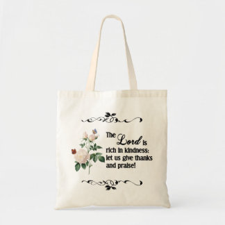 The Lord Is Rich In Kindness Custom Bag II