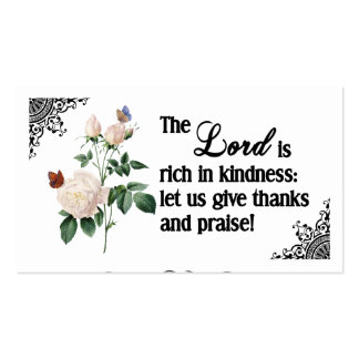 The Lord Is Rich In Kindness Custom Business Card