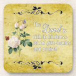 The Lord Is Rich In Kindness Custom Cork Coaster