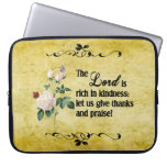 The Lord Is Rich In Kindness Custom Laptop Sleeve
