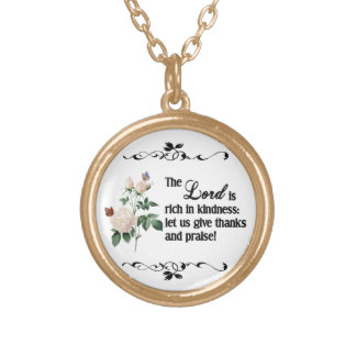 The Lord Is Rich In Kindness Custom Necklace