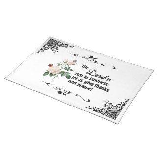 The Lord Is Rich In Kindness Custom Placemat