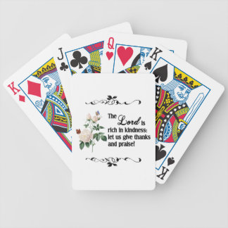 The Lord Is Rich In Kindness Custom Playing Cards
