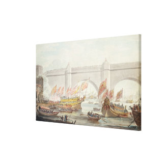 The Lord Mayor landing at Westminster Stretched Canvas Prints