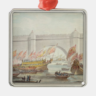 The Lord Mayor landing at Westminster Metal Ornament