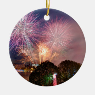 The Lord Mayor's Fireworks, Southbank London Ceramic Ornament
