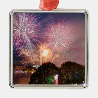 The Lord Mayor's Fireworks, Southbank London Metal Ornament