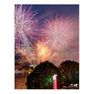 The Lord Mayor's Fireworks, Southbank London Postcard