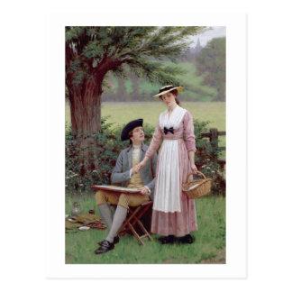 The Lord of Burleigh, Tennyson, 1919 (oil on canva Postcard
