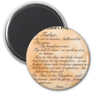 The Lord Prayer 2 Inch Round Magnet