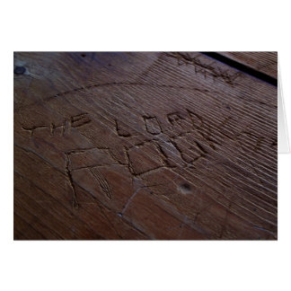 The Lord Rocks Wood carving Card