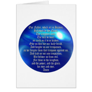 The Lord s Prayer Greeting Card
