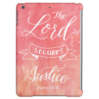 The Lord Secures Justice iPad Air Cases