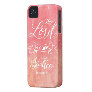 The Lord Secures Justice iPhone 4 Case