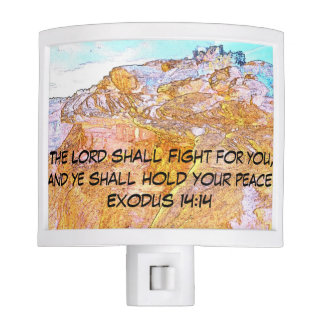 The Lord Shall Fight For You Night Light