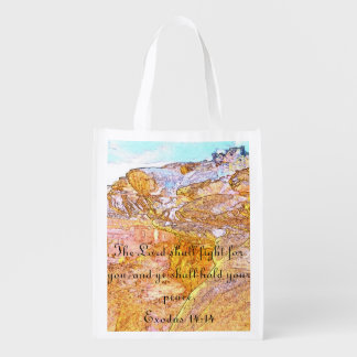 The Lord Shall Fight For You Reusable Bag Grocery Bag