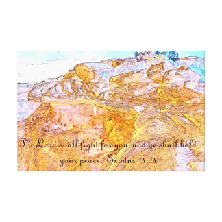The Lord Shall Fight For You Wrapped Canvas Art Canvas Print